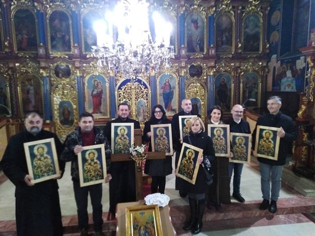 Освештање и додела икона Светог Саве